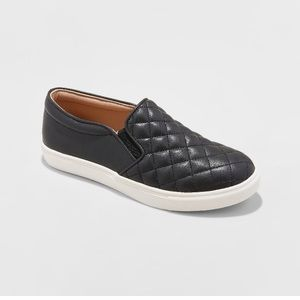 A New Day Black Quilted Sneakers